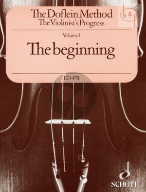 The Doflein Method Vol.1 The Violinist's Progress The Beginning