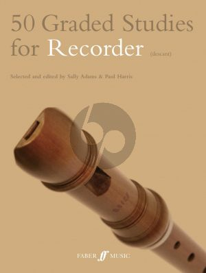 Adams-Harris 50 Graded Studies for Descant Recorder