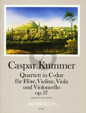 Kummer Quartett C-dur Op.37 Fl.-Vi.-Va.-Vc. (Partitur/Stimmen) (Yvonne Morgan)