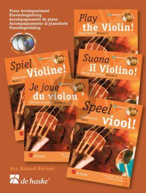 Speel Viool Vol.2 (Pianobegeleiding bij de Liedjes) (Bk-Cd) (arr. R.Kernen)