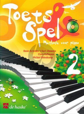 Toets en Spel - Methode voor Piano Vol.2 (Bk-Cd) (medewerking van C. Rullmann en M. Oldenkamp)