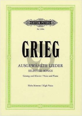 Grieg 60 Ausgewahlte Lieder Hoch
