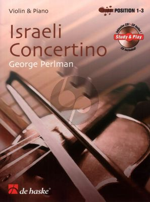 Perlman Israeli Concertino Violin and Piano (Position 1 - 3) (Bk-Cd)