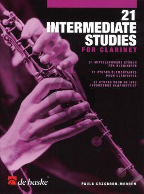 Crasboorn-Mooren 21 Intermediate Studies for Clarinet