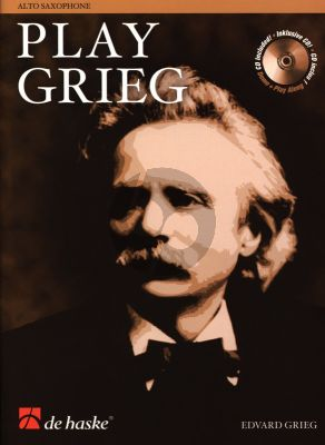 Play Grieg for Alto Saxophone (Bk-Cd) (Kernen-Kampstra) (interm.) (play-along and demo CD)