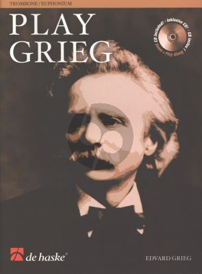 Play Grieg for Trombone (Euph.) (TC/BC) (Bk-Cd) (Kernen-Kampstra) (interm.) (play-along and demo CD)