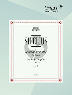 Sibelius 6 Impromptus Op.5 Piano