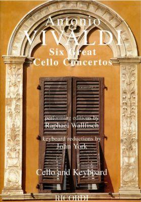 Vivaldi 6 Great Concertos (Violoncello-Piano)