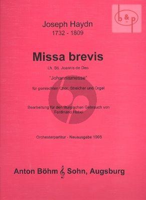 Miss Brevis B-dur in hon. Sti. Joannis de Deo (Kleine Orgelmesse) (SATB-Strings-Organ)