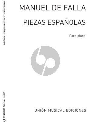 Falla Piezas Espanolas Piano solo