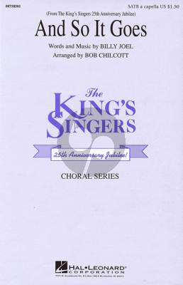 Joel And So It Goes SATB (Chilcott) (KIng's Singers)