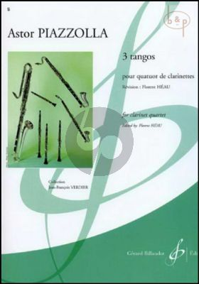 3 Tangos (4 Clar.[Eb/Bb-Bb-Bb[Bassethorn]- Bass Clar.])