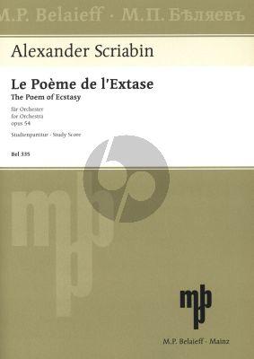 Scriabin Le Poeme d'Extase Op. 54 Orchestra (Study Score)