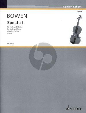 Bowen Sonate No.1 c Moll Op.18 Viola und Klavier