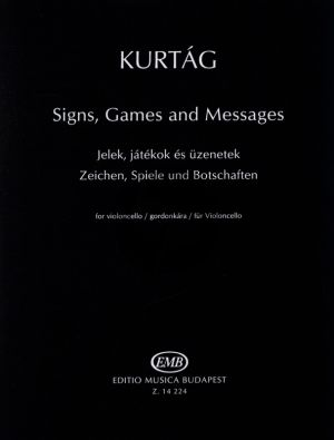 Kurtag Signs,Games and Messages Violoncello Solo