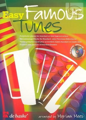 Easy Famous Tunes (Accordion) (Bk-Cd) (CD as play-along and demo)