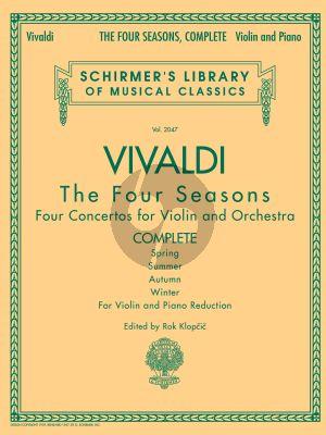 Vivaldi 4 Seasons - 4 Jahreszeiten Op. 8 Violin and Piano (Complete) (edited by Rok Klopcic)