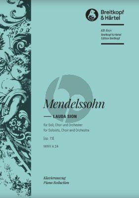 Lauda Sion MWV A24 Op.73 Soli-Choir-Orchester Klavierauszug (Vocal Score)