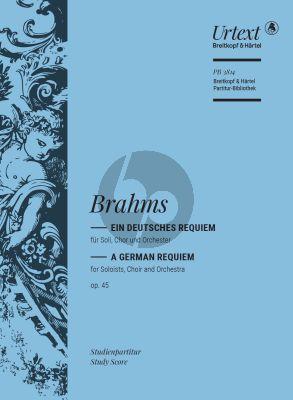 Brahms Ein Deutsches Requiem Op. 45 Studienpartitur