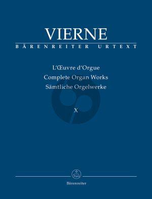 Vierne Samtliche Orgelwerke Vol.10 (Improvisations (1928) - Transcriptions (1894/1901/1932)