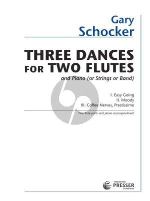 Schocker 3 Dances 2 Flutes-Piano