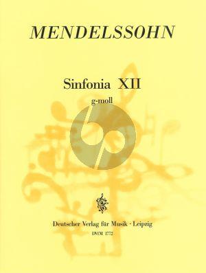 Sinfonia No. 12 g-moll MWV N 12 Streichorchester