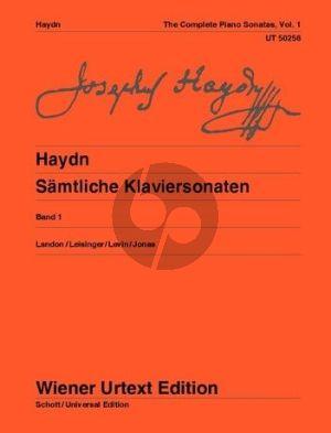 Haydn Samtliche Sonaten Vol.1 Klavier (Wiener Urtext) (Landon-Leisinger-Levin-Jonas) Nabestellen