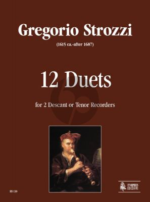 Strozzi 12 Duets for Descant or Tenor Recorders