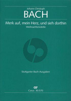 Merk auf, mein Herz, und sieh dorthin SATB/SATB Partitur (Weihnachtsmotette) (Ed. Peter Wollny)