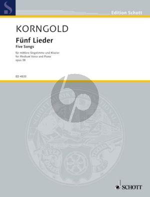Korngold 5 Lieder Op.38 (Medium) (germ.-engl.texts)