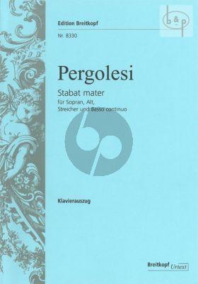 Pergolesi Stabat Mater Soprano-Alto soli-String Orch.-Bc. Vocal Score (edited by Helmut Hucke)