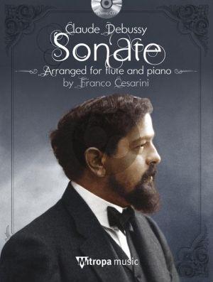 Debussy Sonate en Trio Flute and Piano Bk-Cd (arr. Franco Cesarini)