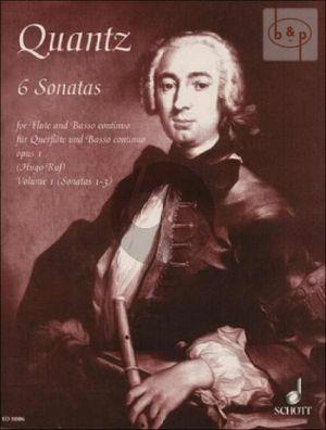 Quantz 6 Sonaten Op. 1 Vol. 1 No.1 - 3 Flöte-Bc (Hugo Ruf)