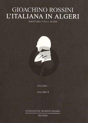 Rossini L'Italiana in Algeri Fullscore Ricordi (Volume 1-2)
