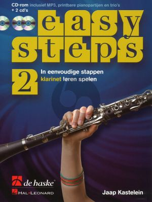 Kastelein Easy Steps Vol.2 Klarinet (Bk-CD Rom- 2 Cd's) (In eenvoudige stappen klarinet leren spelen)