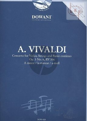 Vivaldi Concerto a-minor Op.3 No.6 (RV 356) (Violin-Str.-Bc) (piano red.) (Bk-Cd) (Dowani 3 Tempi Play-Along)