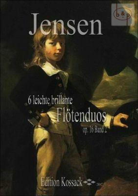 6 Leichte Brillante Flotenduos Op.16 Vol.2