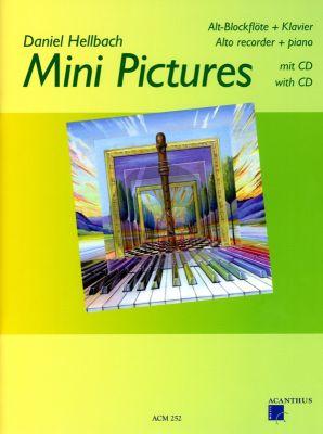 Hellbach Mini Pictures Vol.1 Altblockflöte-Klavier Buch mit Cd