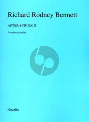 Bennett After Syrinx II for Marimba solo