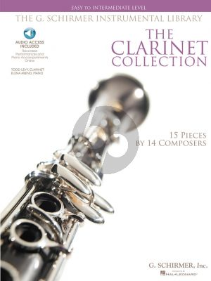 Clarinet Collection Clarinet-Piano Easy to Intermediate (Bk-Audio access)