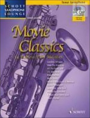 Movie Classics (Tenor Saxophone-Piano) Book-Online Audio