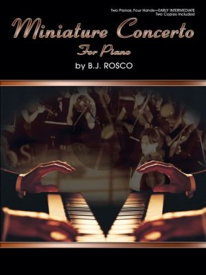 Rosco Miniature Concerto for 2 Piano's 4 Hands (2 Copies Included)