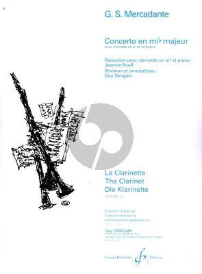 Concerto en Mib Majeur Clarinette et Piano