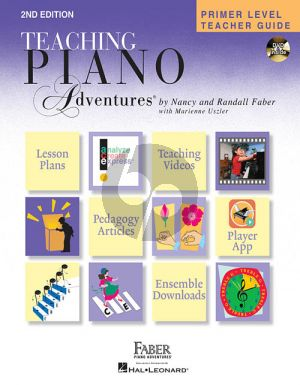 Faber Piano Adventures Primer Level Teachers Guide Book with DVD (2nd edition)