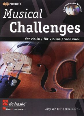 Musical Challenges for Violin (Position 1 - 5) (Bk- 2 CD's) (Intermediate)
