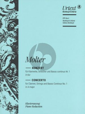 Molter Konzert Nr.1 A-dur for Clarinet in A or D and Basso Continuo (Becker-Obst)