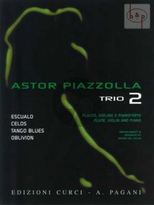 Piazzolla for Trio Vol.2 Flute-Violin-Piano (Score/Parts) (M. del Solda)