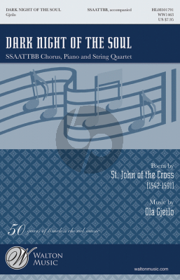 Gjeilo Dark Night of the Soul SSAATTBB-Strings Choral Score