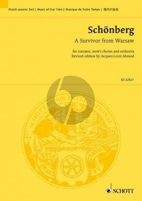 Schoenberg A Survivor from Warsaw Op.46 Narrator-Men's Chorus-Orchestra Study Score