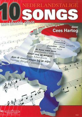 Hartog 10 Nederlandstalige Songs Klassiek Gitaar (incl. Teksten en Akkoorden)